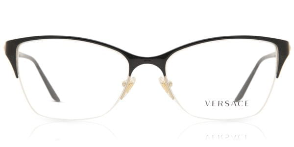 0699f82742 Lentes Recetados Versace VE1218 1342 Black/Gold | LentesWorld México