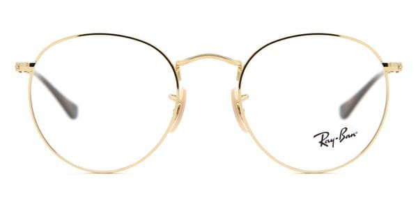 0f13836a7a40 Ray-Ban RX3447V Round Metal 2500 Glasses Gold | VisionDirect Australia
