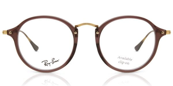 3ca987cd2 Ray-Ban RX2447V Round Fleck 8032 Glasses Brown | VisionDirect Australia
