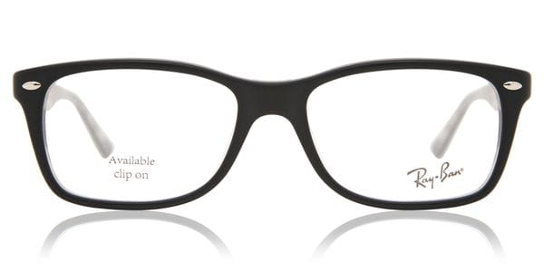619b45af2ffe7 Ray-Ban RX5228 Highstreet 5405 Glasses Top Black On Texture ...