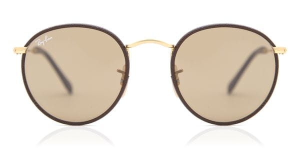 ef66439b1908f6 Ray-Ban RB3475Q Round Craft 112 53 Sunglasses in Gold ...