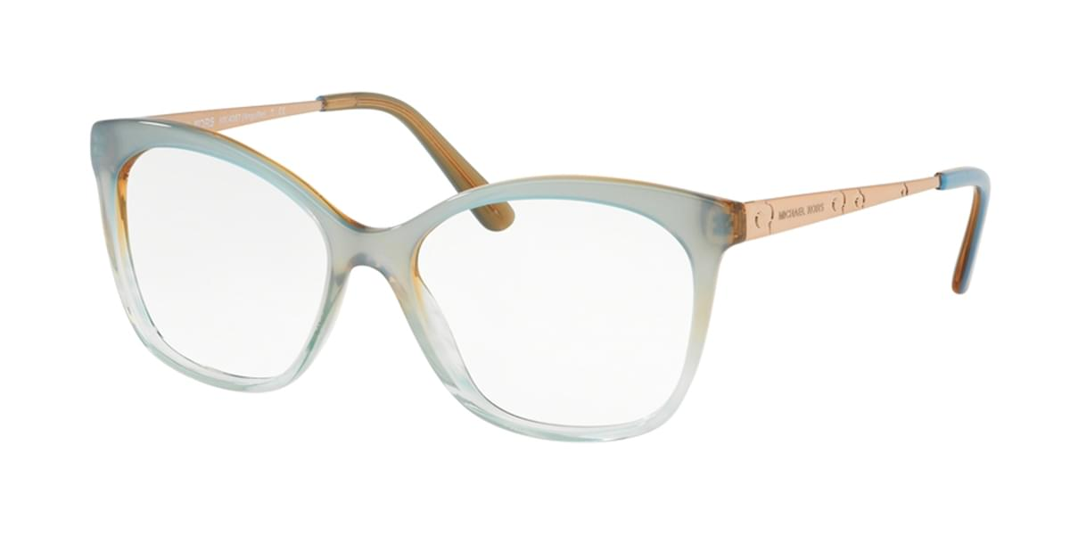 Michael Kors MK4057 ANGUILLA 3505 Womenâs Eyeglasses Blue Size 53 (Frame Only) - Blue Light Block Available