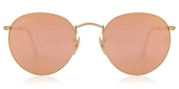 f4badfde31fe3 Ray-Ban RB3447 Round Flash Lenses 112 Z2 Sunglasses Gold ...