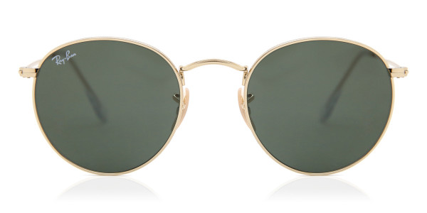 e9f126f37d73 Ray-Ban RB3447 Round Metal 001 Sunglasses Gold