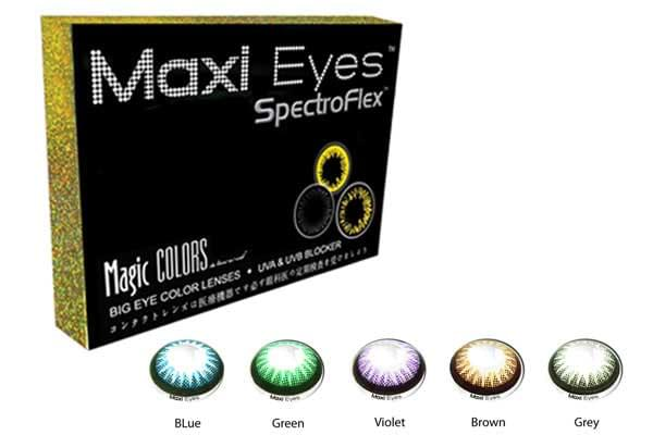 ef1a8fab170 Maxi Eyes Magic Colors II 2 Pack Monthly Disposable Contact Lenses ...