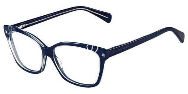 baa983e70c5 Alexander McQueen AMQ 4233 RJF Glasses Blue Crystal Transparent ...