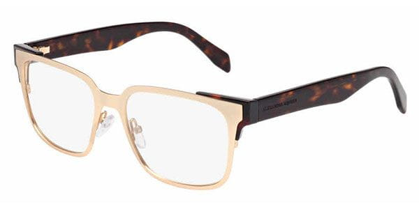 ab721c3f5a9 Alexander McQueen AM0014O 002 Glasses Gold