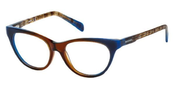 69af8cad7c1ee Diesel DL5056 092 Glasses Dark Blue Gradient Striped Brown ...