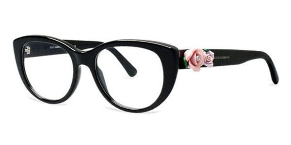 4a097e54df1 Dolce   Gabbana DG3163 Flowers 501 Glasses Black