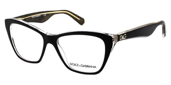 1f59ec47663 Dolce   Gabbana DG3167 Lip Gloss 2737 Glasses Black Glitter Gold ...