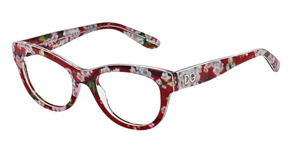 250508f3bf Dolce   Gabbana DG3203 Almond Flowers 2845 Glasses Top Red Peach ...