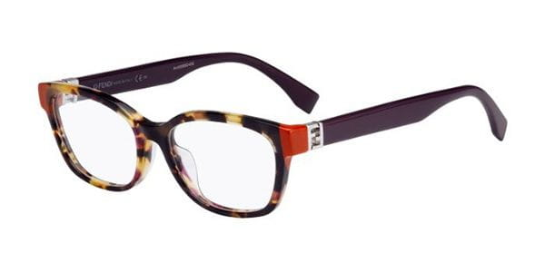 873cf8b453fa Fendi FF 0130 F Asian Fit MFX Eyeglasses in Tortoise ...