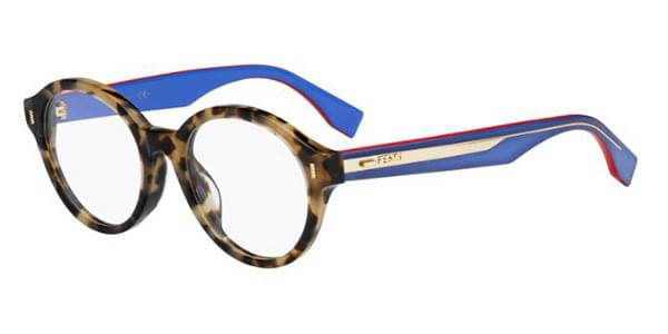 61e17ec04d21 Fendi FF 0187 F Asian Fit UEV Eyeglasses in Tortoise ...