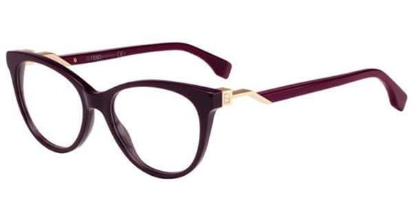 3506731d2b8a Fendi FF 0201 FENDI CUBE 5BR Glasses Red