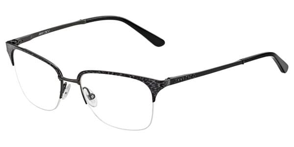 75729b47306c Jimmy Choo 91 FIM Eyeglasses in Dark Ruthenium Leopard Black ...