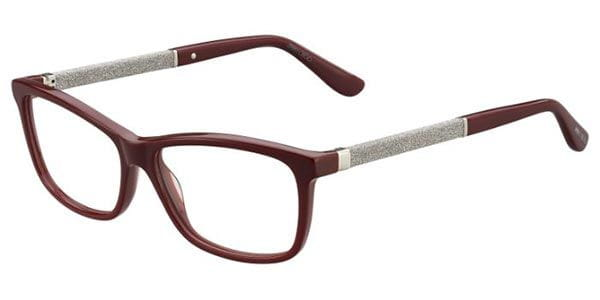 e4507b57a2b Jimmy Choo JC167 KMN Eyeglasses in Burgundy