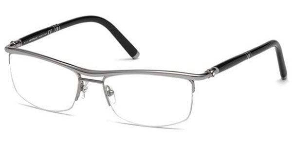 f0fe59bc36 Mont Blanc MB0485 012 Eyeglasses in Ruthenium Black ...