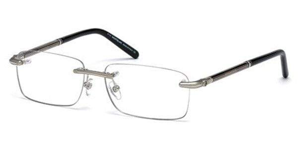 4a0caeaa90 Mont Blanc MB0492 016 Glasses Silver