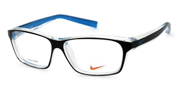 9174f1b8c3 Lentes Recetados Nike 7065 018 Black Crystal Clear And Blue ...
