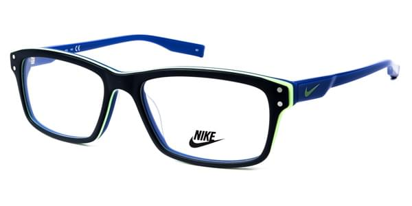 cd23ec6ab6 Nike 7231 405 Glasses Matte Black Obsidian Blue Lime Green Blue ...