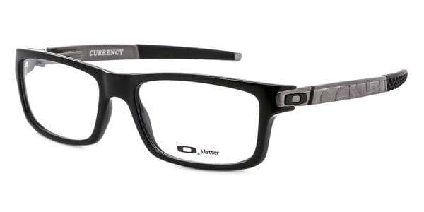 c7207bb8f3 Oakley OX8026 CURRENCY 802605 Eyeglasses in Polished Black ...