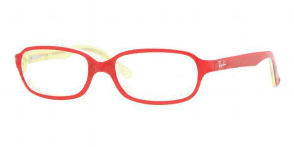 9c74956243a Ray-Ban Junior RY1524 3564 Brille Top Red on Transparent Yellow ...