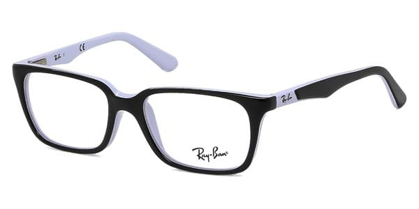 fd70f4deec2cc Óculos Graduados Ray-Ban Junior RY1532 3579 Top Black White ...