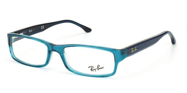 d374bab05e300 Ray-Ban RX5114 Highstreet 5235 Eyeglasses in Transparent Blue ...