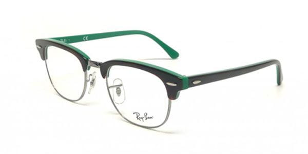 7c4637b4c5007 Ray-Ban RX5154 Clubmaster 5161 Eyeglasses in Brown Aqua Green ...