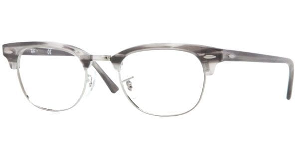 6d78ae9f8844f Ray-Ban RX5154 Clubmaster 5255 Glasses Matte Striped Grey ...