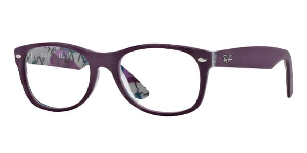 8a7ca98bd2 Ray-Ban RX5184 New Wayfarer 5408 Glasses Top Violet On Texture ...