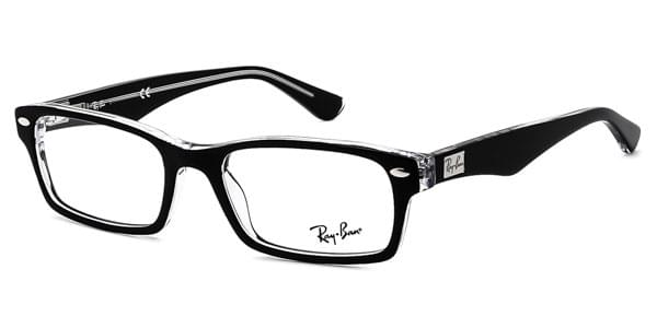 1ac461d6c4 Ray-Ban RX5206 Highstreet 2034 Glasses Top Black On Transparent ...