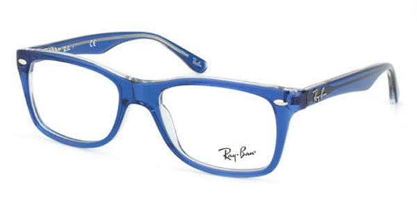 08890ed9ce2b6 Ray-Ban RX5228 Highstreet 5111 Eyeglasses in Top Light Blue On ...