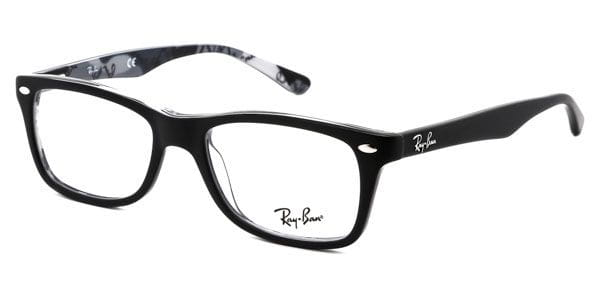 a2014f8363 Ray-Ban RX5228 Highstreet 5405 Eyeglasses in Top Black On Texture ...