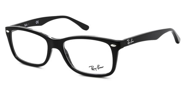 Lunettes Ray-Ban RX5228F Highstreet Asian Fit 2000 Noir Brillant ... 993d2628dbbb