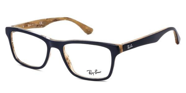 Ray-Ban RX5279 Highstreet 5131 Eyeglasses in Dark Blue Beige Horn ...