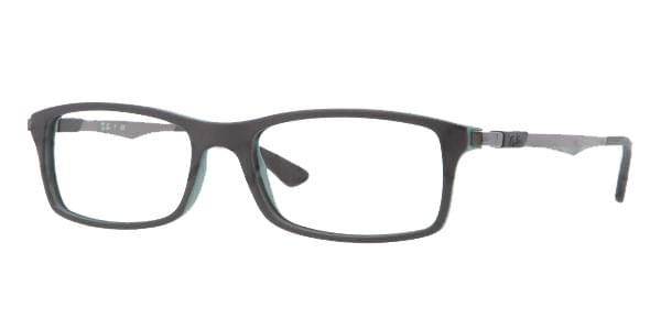be80d81cc4 Ray-Ban RX7017 Active Lifestyle 5197 Eyeglasses in Top Black Green ...