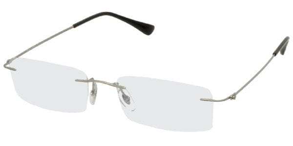 5214b3413d162 Óculos de Grau Ray-Ban RX8680 Tech Light Ray 1127 Prateado ...