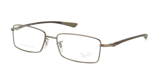 080244a7372 Ray-Ban Tech RX8705 Titanium 1107 Eyeglasses in Matte Light Brown ...