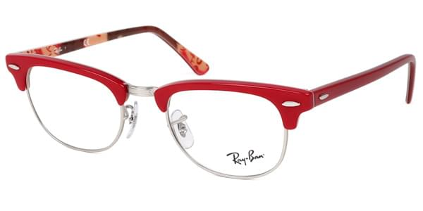 5ee4e267d177d7 Ray-Ban RX5154 Clubmaster 5651 Eyeglasses in Red   SmartBuyGlasses USA