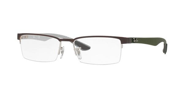 20842ee409 Ray-Ban Tech RX8412 Carbon Fibre 2892 Glasses Silver ...