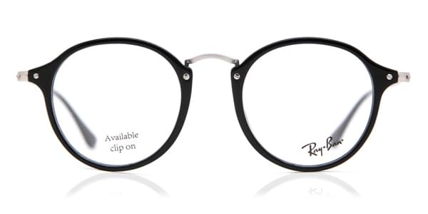 bef43861c4e Ray-Ban RX2447V Round Fleck 2000 Glasses Black