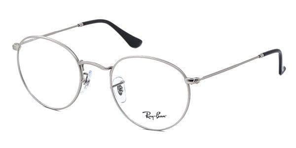 0e2c85dc1ba8be Ray-Ban RX3447V Round Metal 2538 Eyeglasses in Silver ...