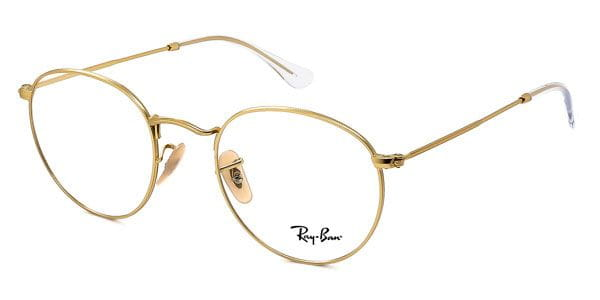 1e82c4e227 Ray-Ban RX3447V Round Metal 2730 Eyeglasses in Gold ...
