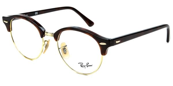 Ray-Ban RX4246V ClubRound 2372 Glasses Red   SmartBuyGlasses India 73e2c3238d29