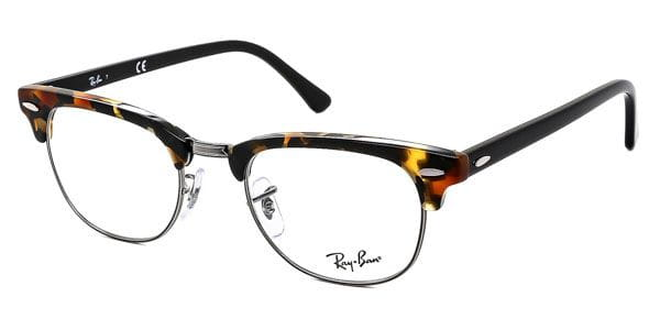 d5da2b68c3 Ray-Ban RX5154 Clubmaster Fleck 5491 Glasses Black | SmartBuyGlasses India