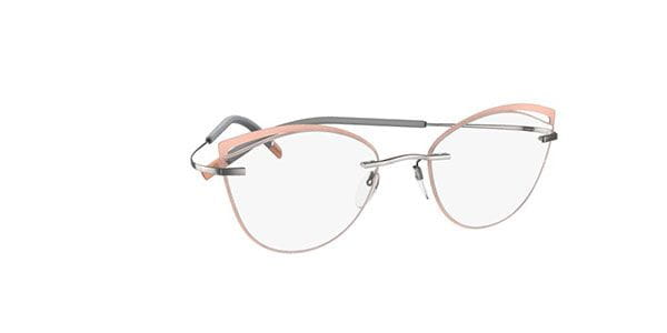 154439a1e38 Silhouette TMA Icon Accent Rings 5518 FU 7010 Eyeglasses in Pink ...