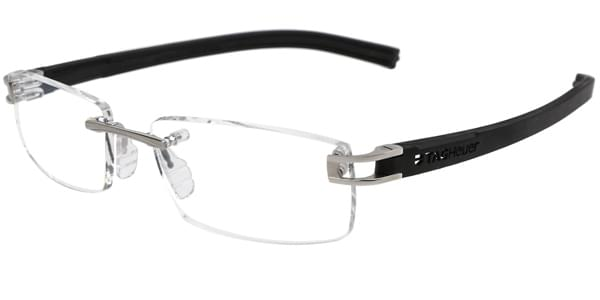 0489df5f2a Tag Heuer Reflex Fold Rimless TH7643 011 Eyeglasses in Pure Black ...