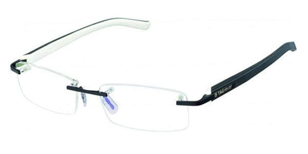 138771065c Tag Heuer Trends Rimless TH8108 007 Glasses White Black ...