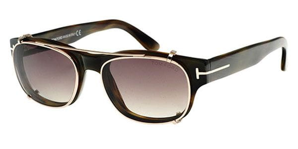 3c3e14f535d8c Tom Ford FT5276 62J Glasses Brown Horn + Clip On
